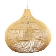 Lamp rotan naturel Max XL
